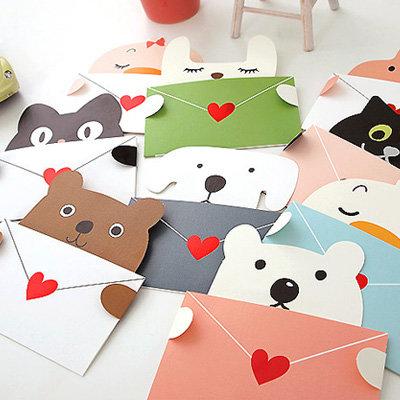 创意可爱动物迷你贺卡