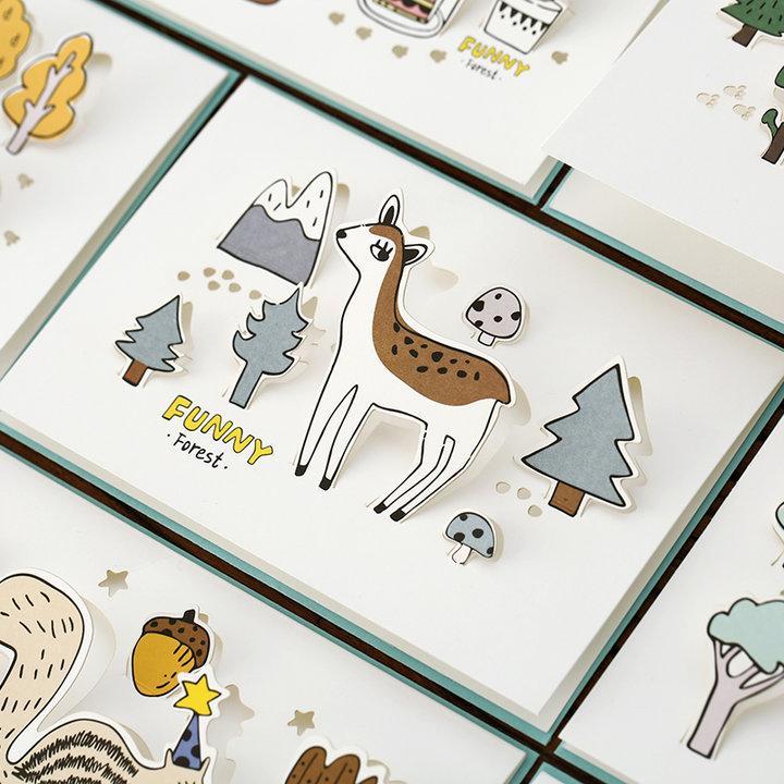 各种森林的小形象,图案清晰色彩艳丽,呆萌的小动物,完全是萌萌哒一只.